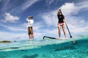 Bora Bora paddle boarding