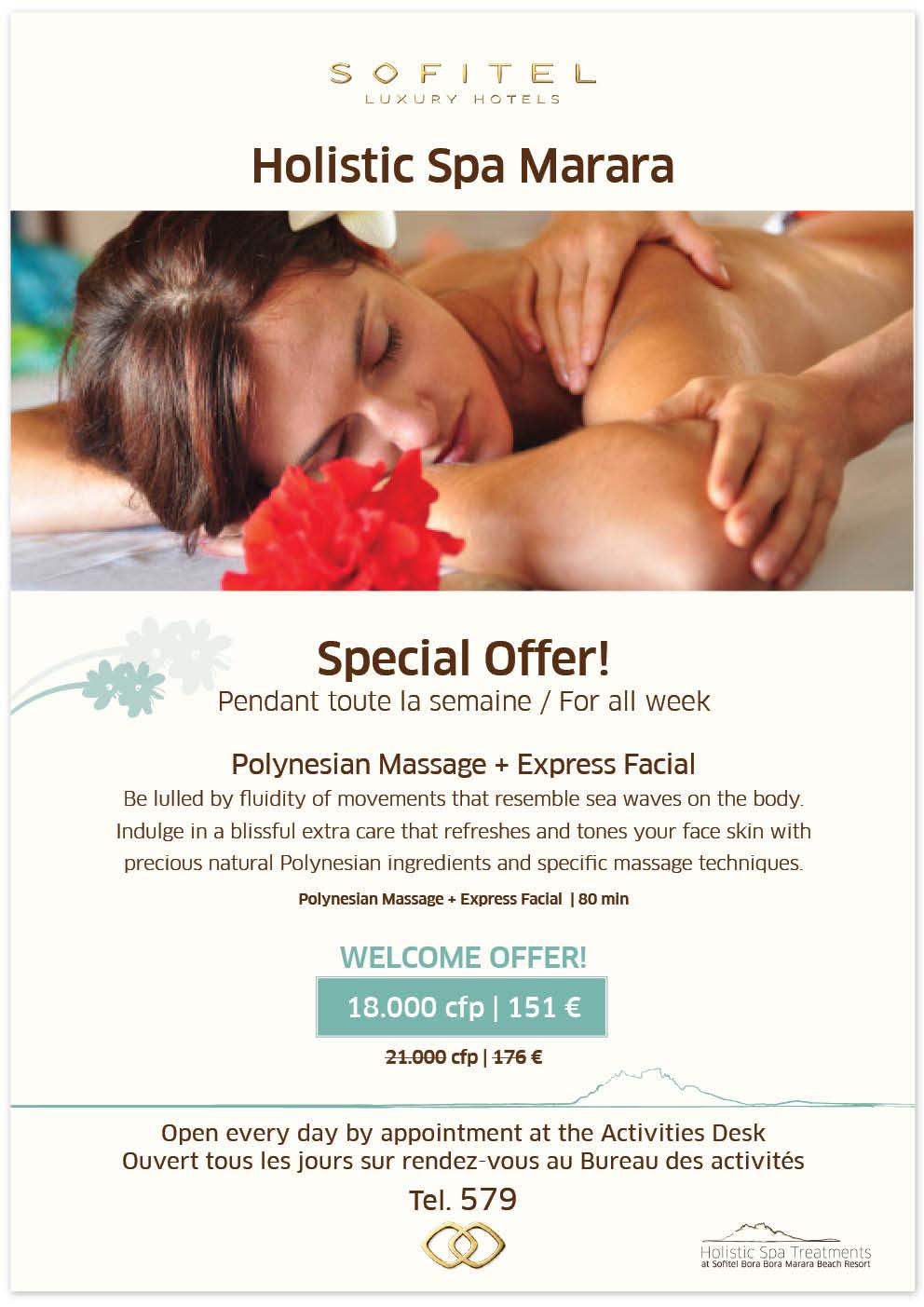 Holistic Spa Marara Special offer Polynesian Facial