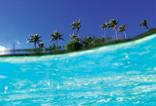 Polynesian natural landscape