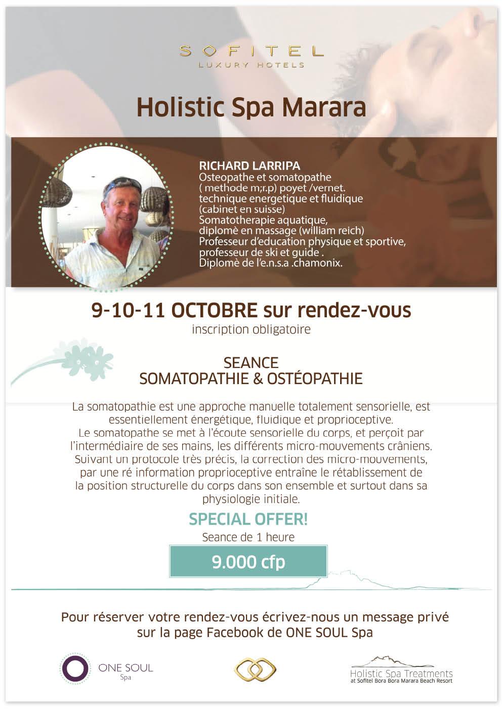 Somatopathie Event at Sofitel Bora Bora Marara Beach Resort