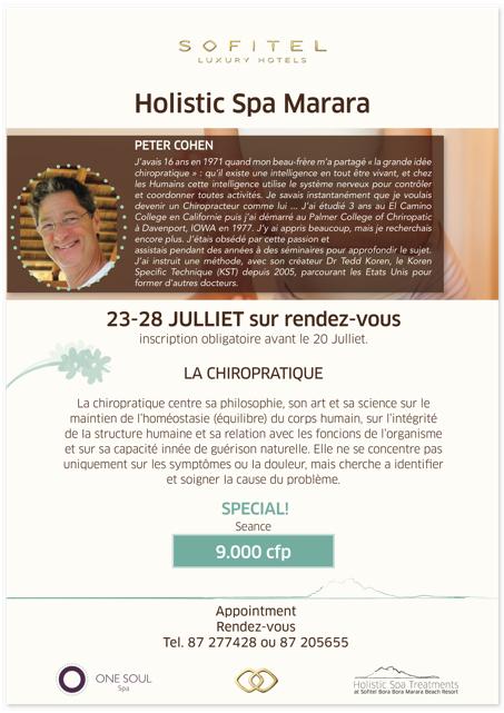 Peter Cohen Chiropracter - OneSoulSpa Event