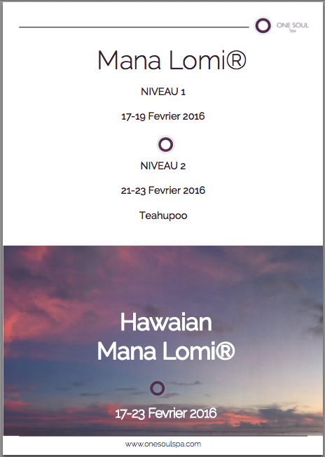 Hawaiian Mana Lomi Training in Tahiti